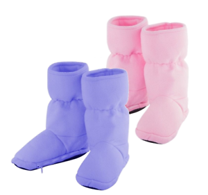 Details About Warm Hug Feet Gorgeous Removable Heat Pack Microwavable Slipper Boots In 3 Sizes