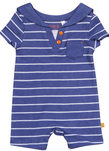 Ex BHS Baby Boys Nautical Sailor Romper All in One Age 0 3 6 9  Months RRP £9