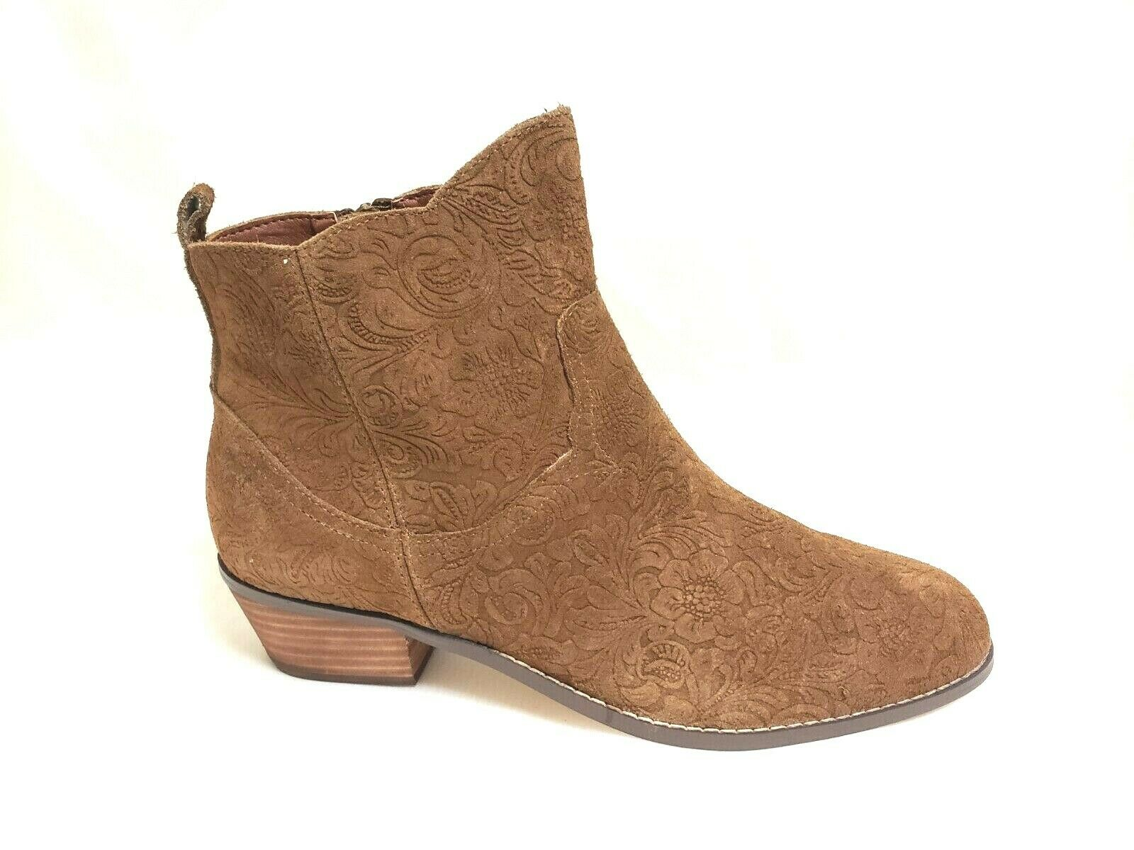 NEW  Women's YELLOW BOX EMBOSS Boot 40470 - Chestnut W141 sm