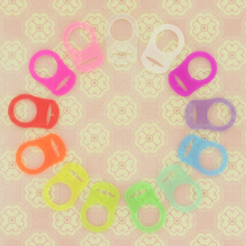 10 MAM Rings Silicone Pacifier//Dummy Clips Adapters for Nuk MAM Button Style