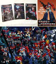 Optimus Prime G1 Transformers Poster & Comic RID Cybertron Energon Classics Lot