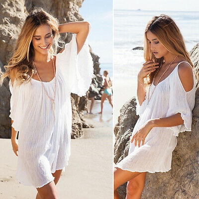 BOHO Sexy Women Summer Loose Evening Party Cocktail Maxi Beach Dress Sundress