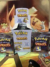 60 Stickers 1999 Series 1 Vintage Pokemon Artbox Stickers 6 New Sealed Packs