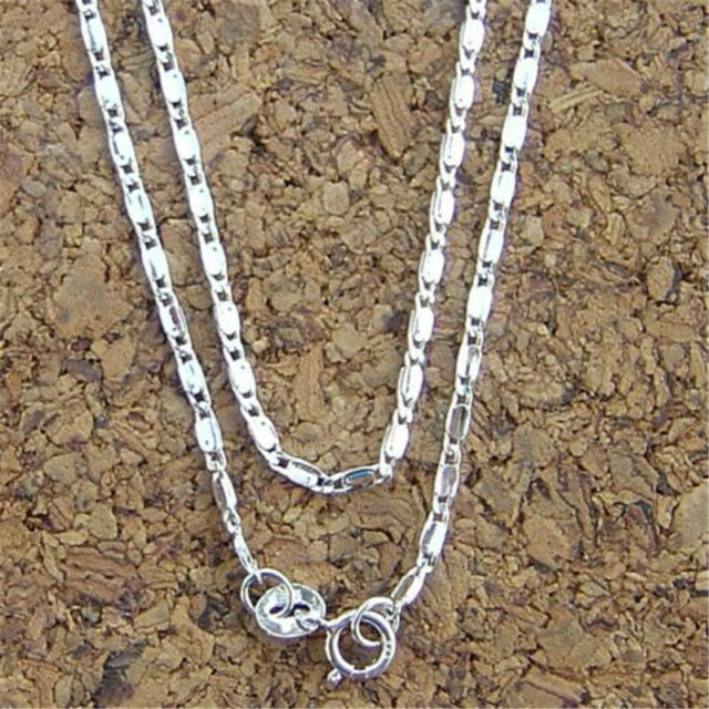 Sterling Silver 7.1mm Semi-Solid Flat Anchor Chain