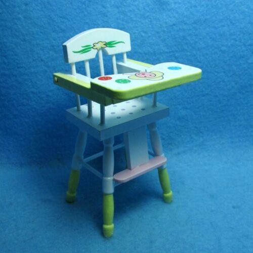 Dollhouse Miniature Wooden Highchair In Clown Design ~ EMWF511