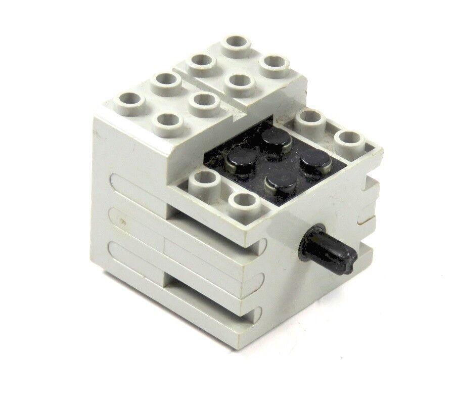 LEGO TECHNIC POWER MOTORE GRIGIO 9V 4x 4 bottoni 9 VOLT pezzo di ricambio