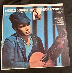 "MERLE HAGGARD/STRANGERS MAMA TRIED 1968 12"" Vinyl LP ST-2972 CAPITOL... 115c"
