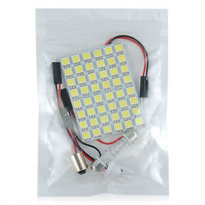 Car-Interior-5050-LED-White-Light-48-SMD-Lamp-Panel-T10-Festoon-Dome-BA9S-12V-5W
