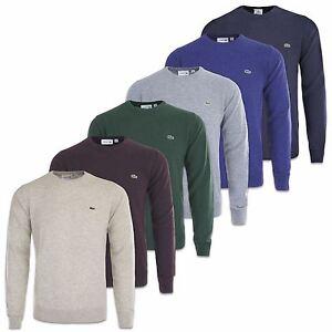 LACOSTE-tricot-Laine-Col-Rond-ah2995-BLEU-MARINE-gris-BORDEAUX-amp-Plus