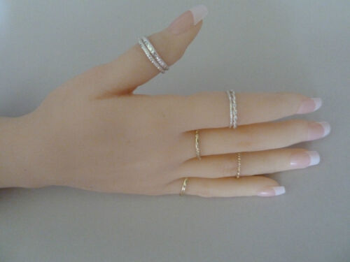 8 7x 925 Sterling Silver /& 14k 7 9 ALLERGY FREE.. plated Rings in sizes 6