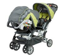 Double Twin Stroller Travel System with 2 Infant Car Seats For ...