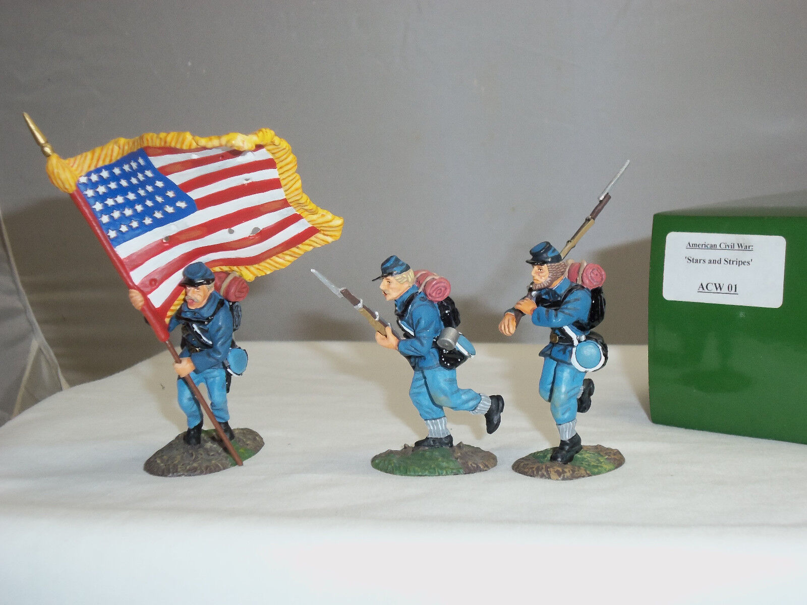 KING AND COUNTRY ACW01 STARS + STRIPES AMERICAN CIVIL WAR TOY SOLDIER FIGURE SET