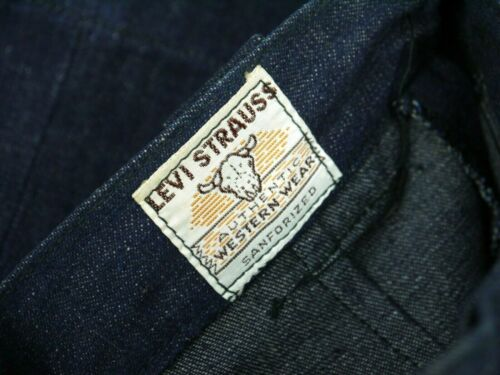 Vintage 50s Levis Sanforized Denim Jeans Womens 22