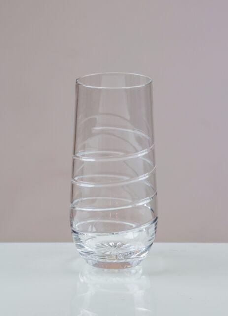 Helter-Skelter 6 Long Drink Glasses 24% CUT LEAD CRYSTAL 100% HANDMADE 33cl