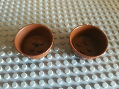 2x lego Container Barrel in brown  Lego