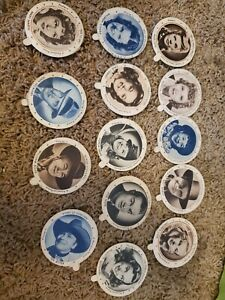 * OLD DIXIE MEADOW GOLD ICE CREAM LIDS,  MOVIE STATS BOB HOPE...