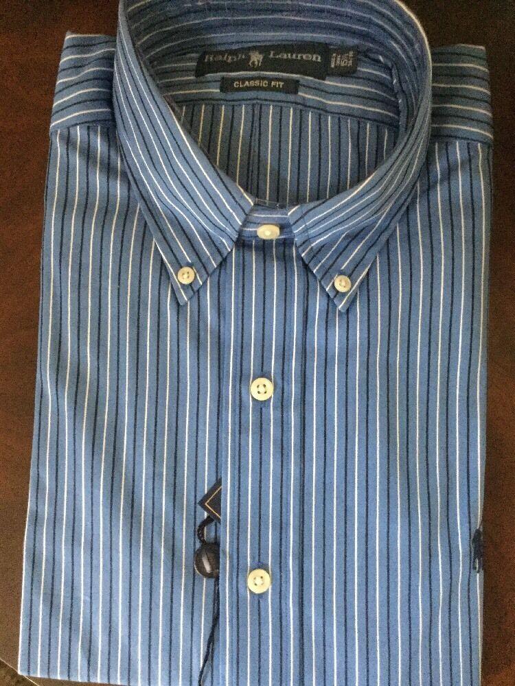 NWT  Ralph Lauren Men's Dress Shirt. Size 15.5