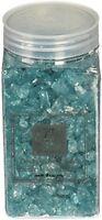 Crushed Glass Stones, Glitter Garden Ponds Decor Lawn Gifts Aquamarine