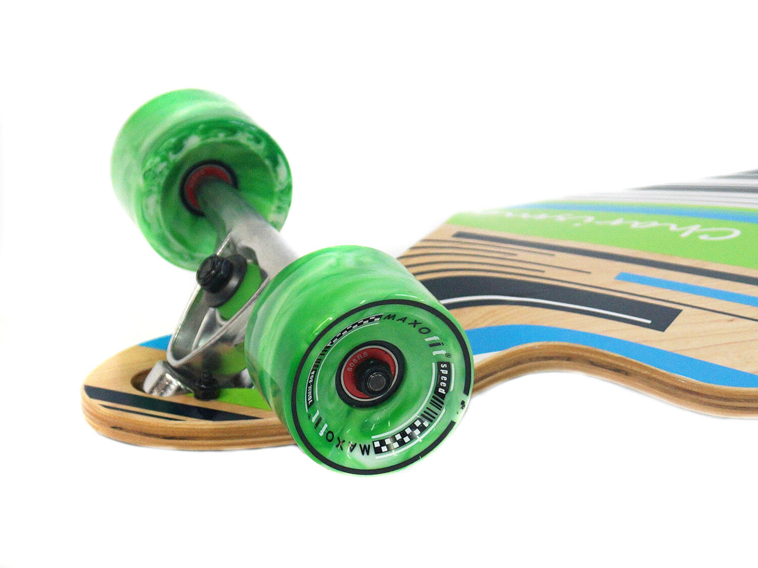"MAXOfit Drop Through Design Longboard /""Charisma Green No.64/"" 101 cm Cruiser"