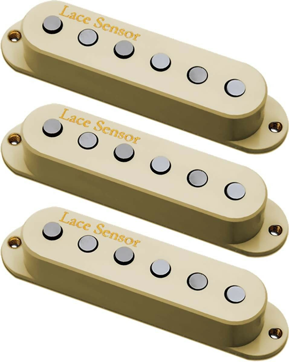 Lace Sensor 21803 Santo Grial Strat Bobina Simple neck mid mid mid bridge Pickup Set, Crema d989f3