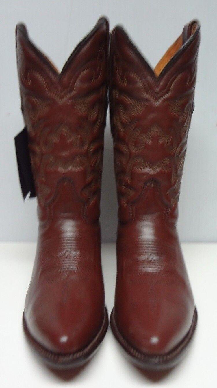 Para Hombre botas de vaquero occidental de cuero genuino C202