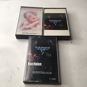 Lot Of 3 Van Halen Cassettes Self Titled 1984 Rare One Is Missing The Tape
