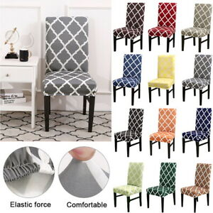 Details About Dining Room Chair Cover Wedding Banquet Seat Covers Stretch Polyester Slipcover