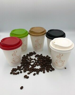 PAPER CUPS PRINTED TABLEWARE 8//12oz Coffee Party Disposable LIDS Cold Hot Drinks
