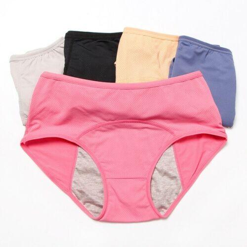 Leak Proof Menstrual Period Panties Women Physiological Pants Cotton Plus Size