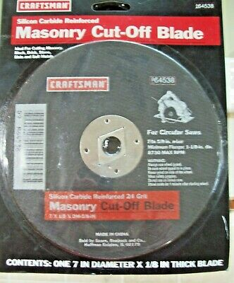"Craftsman Silicon Carbide Cut-Off Wheel 7/"" Diameter 5//8/"" Arbor Tools"