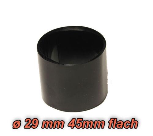 1m schrumpfschlauch PVC Ø 29mm 45mm flachmaß Nero per 26650