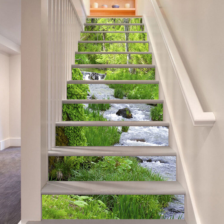 3D Grass Lake 2 Stair Risers Decoration Photo Mural Vinyl Decal WandPapier UK