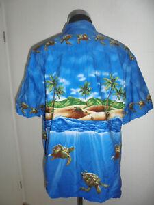 vintage-KY-S-Hawaii-Hemd-shirt-Schildkroeten-made-in-hawaii-oldschool-3XL-XXXL