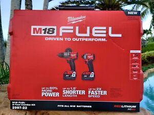 Milwaukee-2997-22-M18-Hammer-Drill-amp-Impact-Driver-Combo-Kit-w-2-5Ah-Batteries