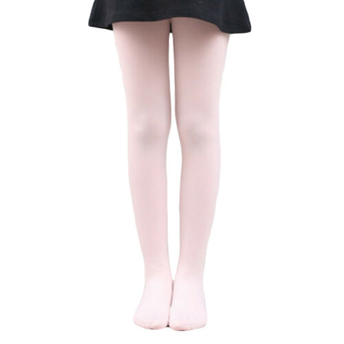 Children Girls Soft Elastic Tights Pantyhose Solid Color Dance Pants Hosiery