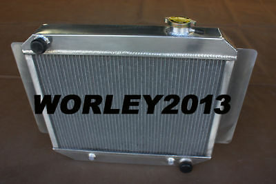 3 core aluminum Radiator for HOLDEN Kingswood HD HK HT HG 6cyl MT 1966-1970