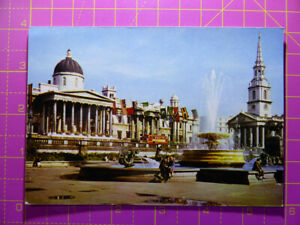 Vintage-National-Gallery-St-Martin-in-the-Fields-London-POSTCARD-Colour-15x10cm