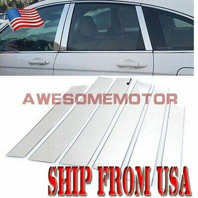 6Pcs Stainless Steel Chrome Window Door Pillar Post Trim Fit 07-11 Honda CR-V