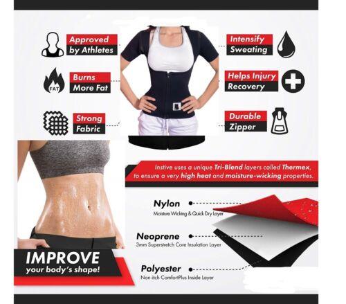 EXTREME sauna thermo cami hot slim belt 100/% Neoprene 2.5mm shaper Vest Sweat
