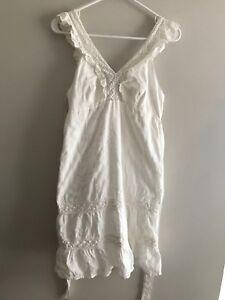 Quicksilver Dress Size Medium White   eBay