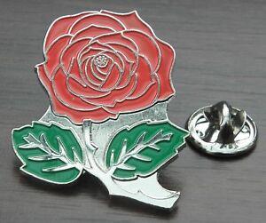 Beautiful English Red Rose Flower England Lapel Hat Cap Tie Pin Badge Brooch