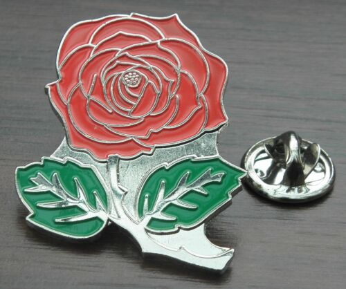 Beautiful English Red Rose Flower England Lapel Hat Cap Tie Pin Badge Brooch
