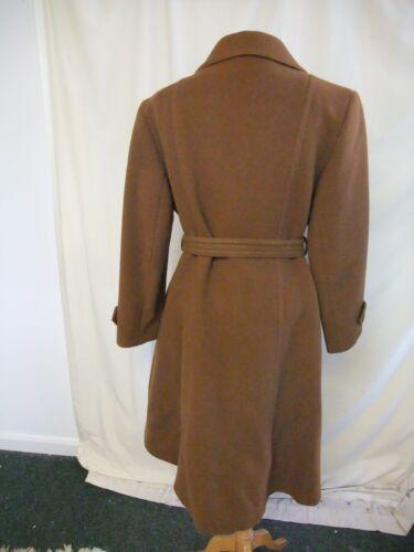 2549 laine marron longueur 18 totale ceinture Uk en Blouson doublé nouer classique à pure OUwP6
