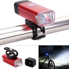 Machfally USB Rechargeable Front Bike Cycling Lamp Headlamp Light 4Modes Red
