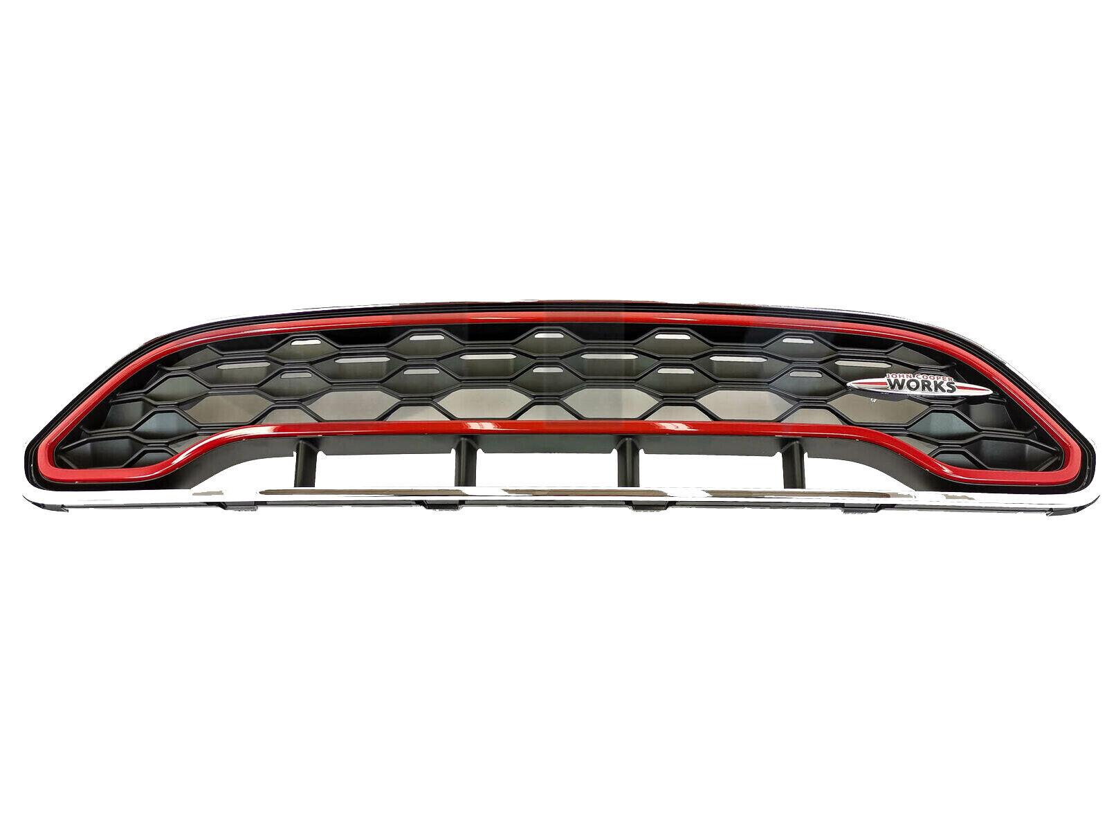 Genuine MINI F55 F56 F57 JCW Front Grill Chilli Red Strip 51137393456