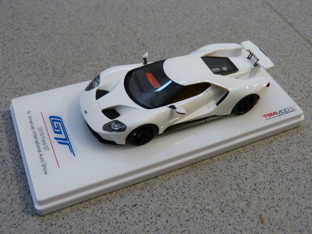 FORD GT 2016 Frozen blanc N. American International Auto Show TSM Voiture Miniature 1 43