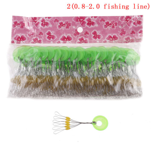 100pcs Yellow Oval Stopper Fishing Bobber Float Space Bean Connector line  NqMxj