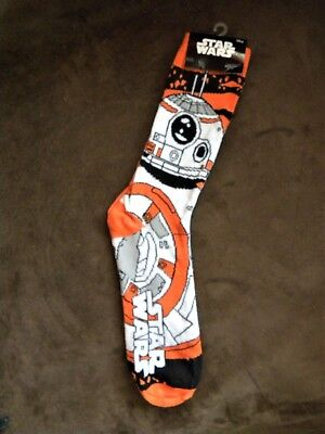 Disney Star Wars Men's Bb-8 Droid Crew Socks Force Awakens Loot Crater Sz 6-12 Clothing, Shoes & Accessories