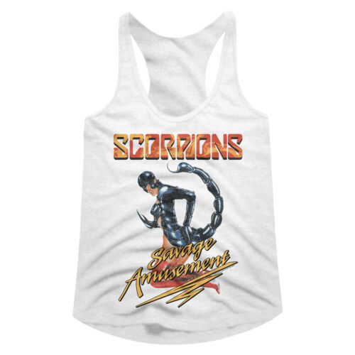 Scorpions Savage Amusement Women/'s Tank Top T Shirt Heavy Metal Music