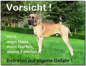 Deutsche Dogge-hund-aluminium-schild-0,5-3mm Dick-hinweis-warnschild-hundeschild Exquisite Verarbeitung In